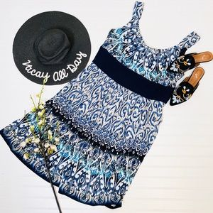 Kathy Roberts Ikat Sleeveless Dress
